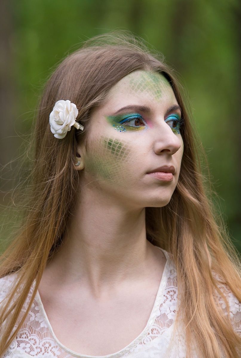 nimfa makijaż artustyczny