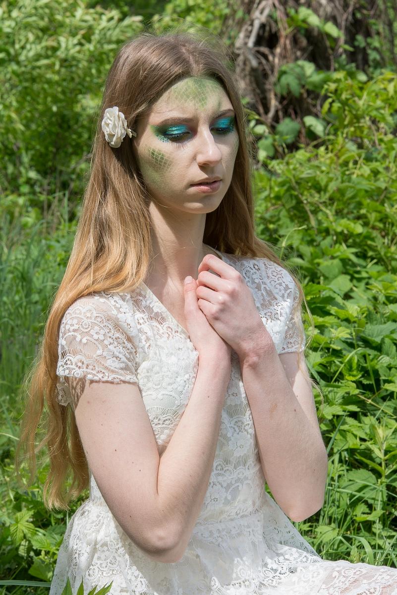 makijaż do sesji nimfa
