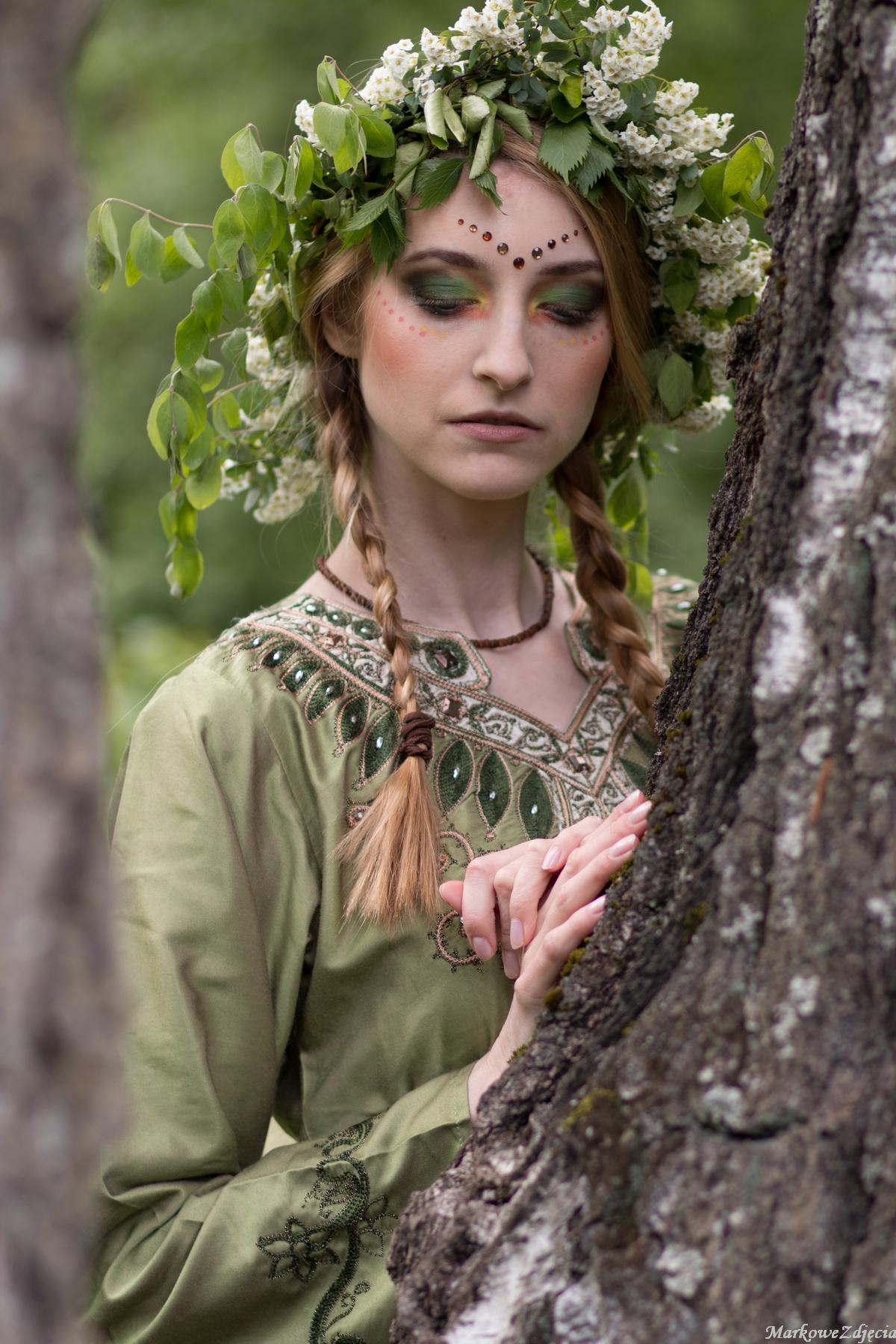 leśna nimfa makijaż